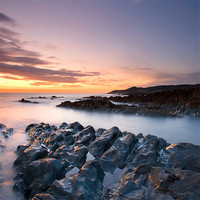 Buy canvas prints of Morte Point Sunset by Andrew Wheatley