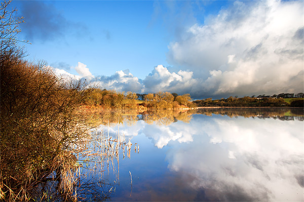 Rain Clouds Over Lower Tamar Lake Canvas print by Andrew Wheatley