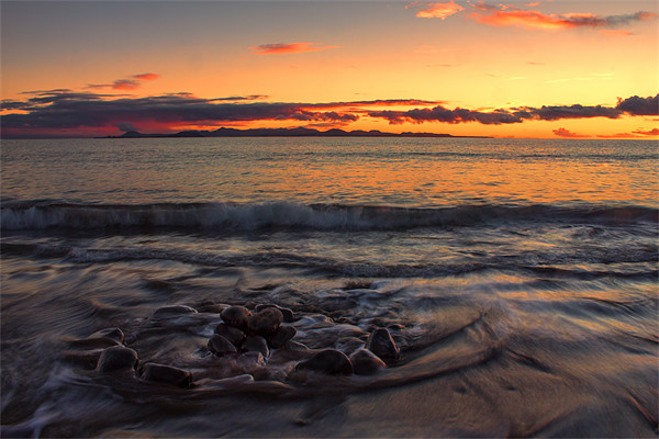 Sunset Over Fuerteventura Canvas print by Roger Green