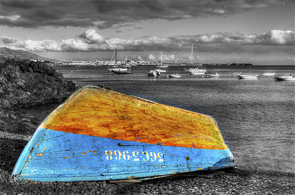Upturned Boat Canvas print by Roger Green