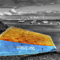 Buy canvas prints of Upturned Boat by Roger Green