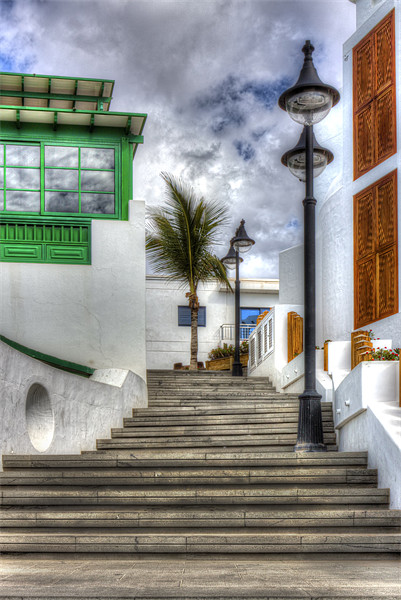 Playa Blanca Steps Canvas print by Roger Green