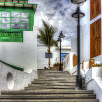 Buy canvas prints of Playa Blanca Steps by Roger Green