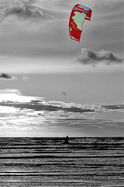 Kite Surfing Canvas print by Roger Green