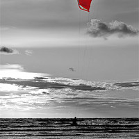 Buy canvas prints of Kite Surfing by Roger Green