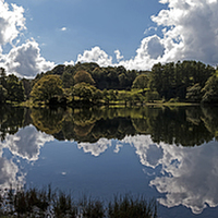 Buy canvas prints of  Loughrigg Tarn by Roger Green