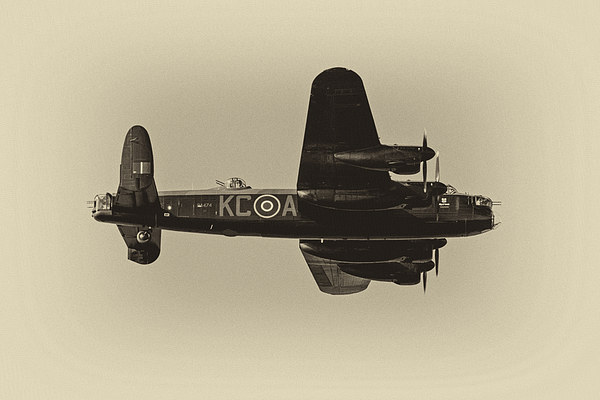 Avro Lancaster Canvas print by Roger Green