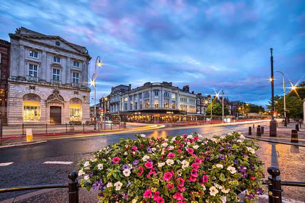 Lord Street in Southport Canvas print by Roger Green