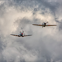 Buy canvas prints of Spitfire and Hurricane by Roger Green