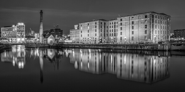 Canning Dock in Liverpool Print by Roger Green