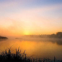 Buy canvas prints of Sunrise on Whitlingham by Gary Rayner