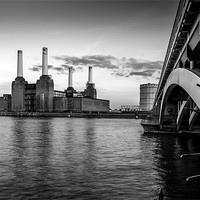 Buy canvas prints of Battersea Power Station (B&W02) by Gary Rayner