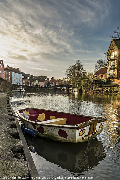 Dingy at Norwich Quay Canvas Print by Gary Rayner