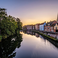 Buy canvas prints of Pre-dawn in Norwich by Gary Rayner