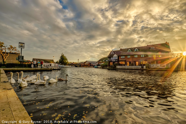 Wroxham at Sunset Canvas print by Gary Rayner