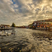 Buy canvas prints of Wroxham at Sunset by Gary Rayner