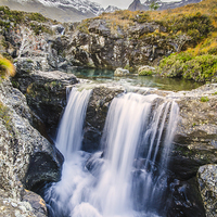 Buy canvas prints of Glen Brittle Waterfall by Richard Peck