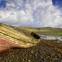 Buy canvas prints of Hauled Up by Richard Peck
