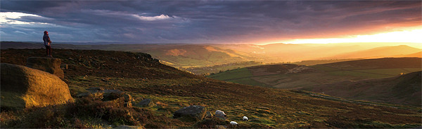 Hope Valley Sunset Canvas Print by Richard Peck