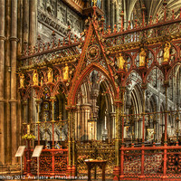 Buy canvas prints of Lichfield Cathedral by Elaine Whitby