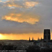 Buy canvas prints of Sunrise over Durham Cathedral by alan willoughby