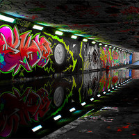 Buy canvas prints of Pottergate Subway In Drought by Rus Ki