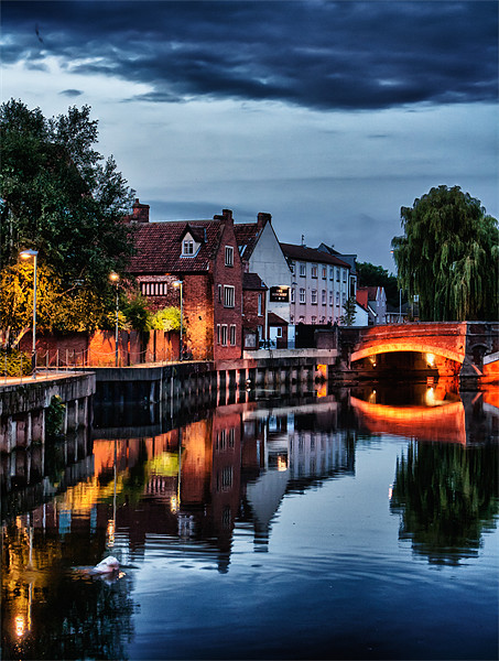 Fye Bridge, Norwich Canvas print by Rus Ki
