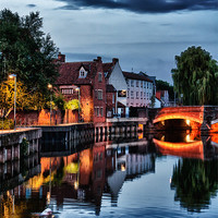 Buy canvas prints of Fye Bridge, Norwich by Rus Ki