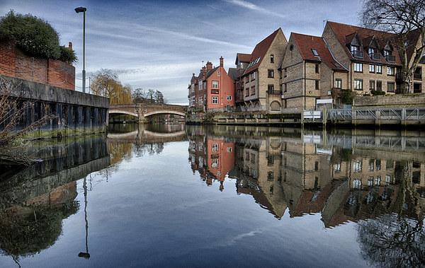 Fye Bridge, Norwich Canvas print by Rus Ki