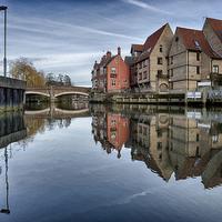 Buy canvas prints of Fye Bridge, Norwich by Rus Ki