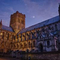Buy canvas prints of  Cathedral Under a Twilight Moon by Rus Ki