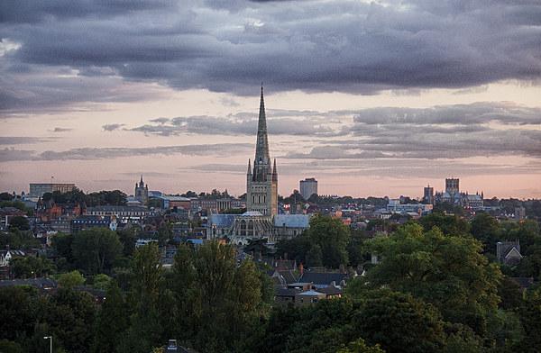 Norwich City Skyline Canvas Print by Rus Ki