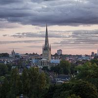 Buy canvas prints of  Norwich City Skyline by Rus Ki