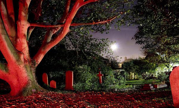 Graveyard at Midnight Canvas print by Rus Ki