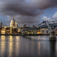 Buy canvas prints of  St Paul's Cathedral from across the Thames by Rus Ki