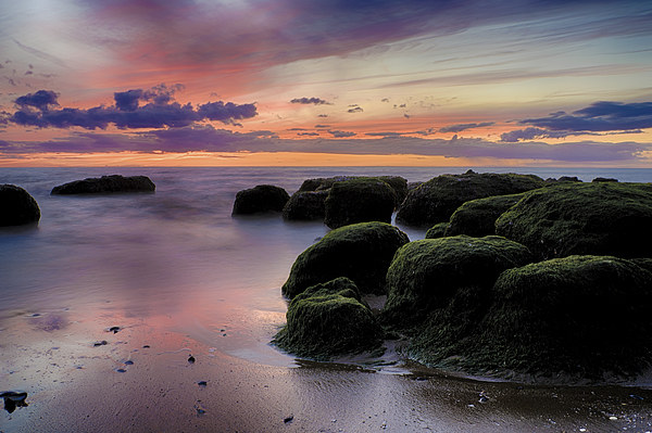 The Boulders of Hunstanton Beach Canvas print by Rus Ki