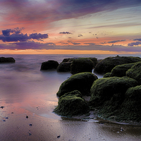 Buy canvas prints of  The Boulders of Hunstanton Beach by Rus Ki
