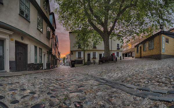 Elm Hill Dawn Canvas print by Rus Ki