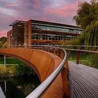 Buy canvas prints of Jarrold Bridge at Twilight by Rus Ki