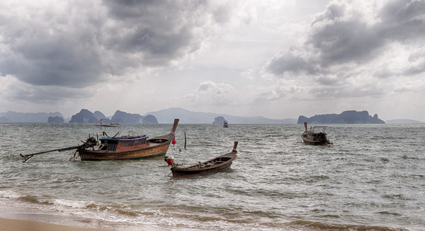Longtail Boats of Koh Yao Noi Canvas Print by Rus Ki