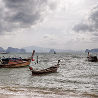 Buy canvas prints of Longtail Boats of Koh Yao Noi by Rus Ki