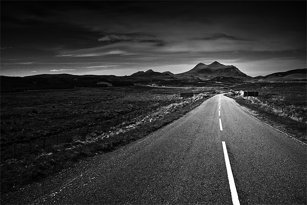 the road to Torridon Canvas print by Dorit Fuhg