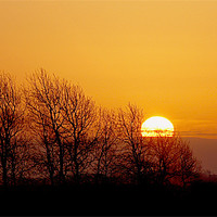 Buy canvas prints of sunrise over the fens by Elouera Photography