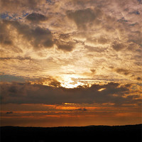 Buy canvas prints of The Hidden Setting Sun by Claire Clarke