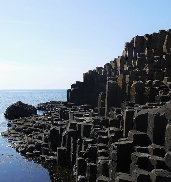 Giants Causeway Canvas print by Claire Clarke