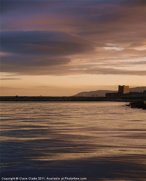 Castle by Night, Carrickfergus Canvas print by Claire Clarke