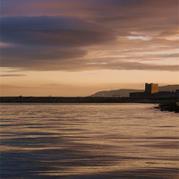 Buy canvas prints of Castle by Night, Carrickfergus by Claire Clarke