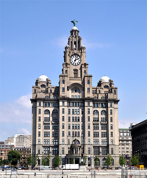 Liver Building Canvas print by Jenny Challinor