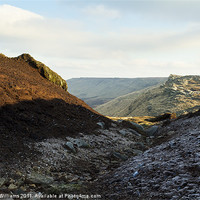 Buy canvas prints of Kinder Scout by Martyn Williams