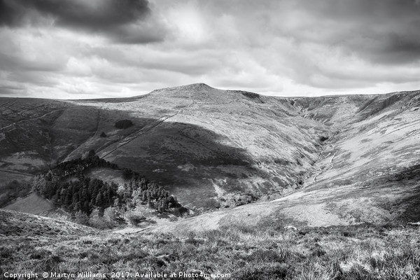 Grindsbrook Clough, Kinder Scout Canvas print by Martyn Williams